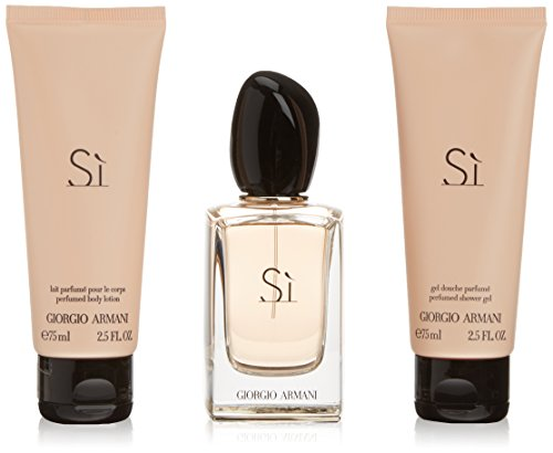 Giorgio Armani Si Set femme/woman, Eau de Parfum Vaporisation/Spray 50 ml, Bodylotion 75 ml, Duschgel 75 ml, 1er Pack (1 x 200 ml)