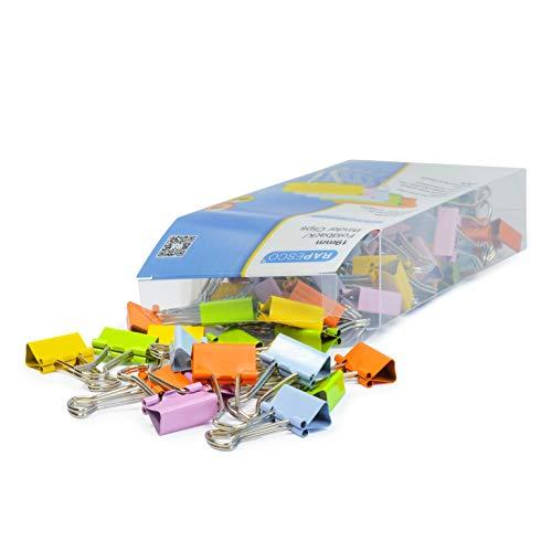 Rapesco 1492 Caja De 80 Pinzas/Clips (Hasta 75 Hojas) 19 mm, Multicolor