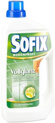 SOFIX Vollglanz, Bodenreiniger, 1 Liter, mit Citrus Extrakten, reinigt und schützt mit natürlichem Glanz