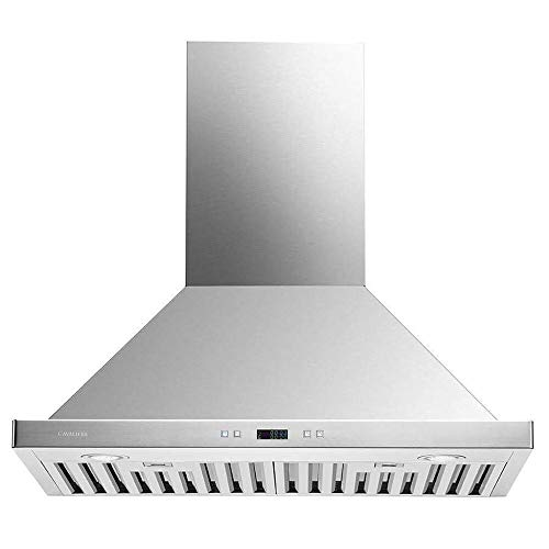 CAVALIERE 30' Range Hood Wall Mounted Brushed Stainless Steel Kitchen Vent 900CFM