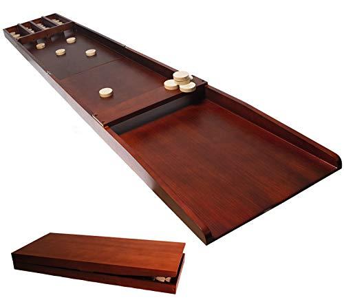 Dutch Shuffleboard Table - Foldable Sjoelen in Full-Size with 30 Disks Fun Adult Board Game