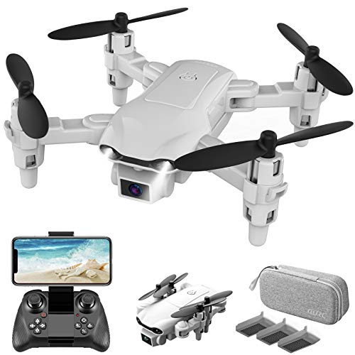4DRC V9 Mini Drone With 720P HD Camera for adults, Foldable Quadcopter with FPV WiFi Camera Kids Toys Gifts for Boys Girls with Auto Hover,Trajectory Flight/3D Flips/One Key Return/3 Modular Batteries