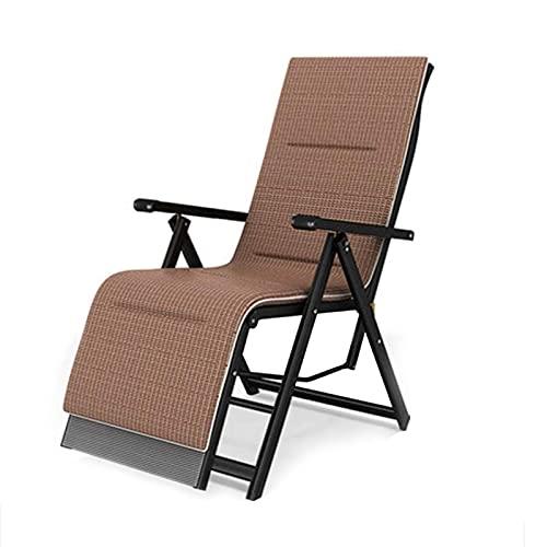 Silla camping plegable sillas plegables camping Sillas plegables playa Tumbona reclinable con el amortiguador de la cintura almohada de seda del hielo y de la playa del jardín del patio ( Color : C )
