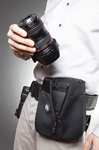 Spider Holster - SpiderPro Medium Lens Pouch - Safely Store and Carry Any 24-70mm Lens with The Hood Attached from Your Belt!