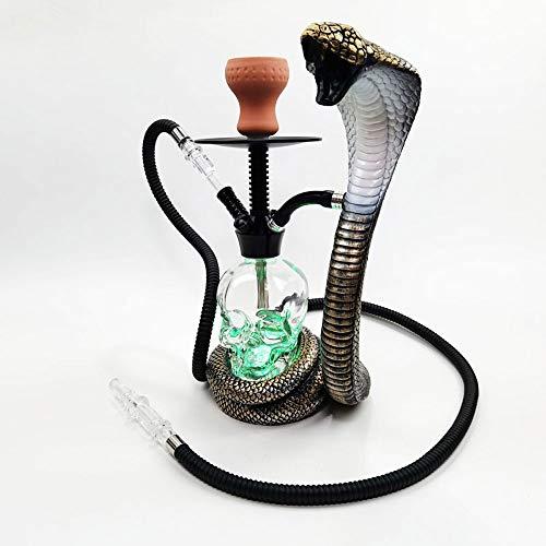 WJMT Forma Shisha narguile narguile Pipa Cobra Sheesha Parte Juego Cachimba Que Fuma Conjunto De Noche Partes Familiar al Aire Libre (Color : A)