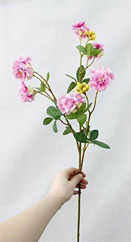 ZJJZH Flores Decorativas Artificiales Flor Artificial Flor Falsa sensación Flor de Cerezo Rama de Cerezo Cerezo patrón de Boda Sala de Juntas 76 cm Flores Incluyen:Flores Artificiales.