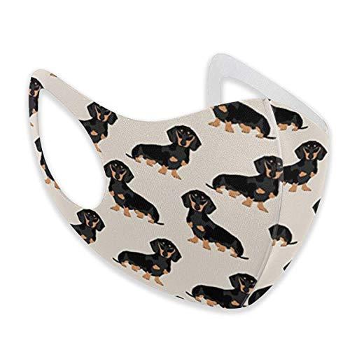 Unisex Ohrschlaufen-Gesichtsschutz – Anti-Staub, warm, Radfahren, Sicherheitsmundabdeckung, verschiedene Verwendungen, verstellbarer Mundschutz, Doxie Dackel, Weiner Hund Haustier Hunde