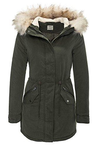 ONLY Damen onlLUCCA Long Parka OTW Jacke, Grau (Peat), 40 (Herstellergröße: L)