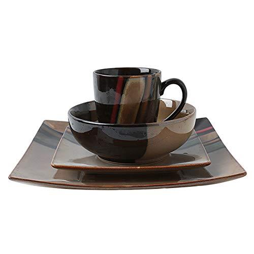 RKY Bol- Vaisselle rétro créative style ethnique nostalgique couverts chinois mis saladier bol steak plat mug /-/