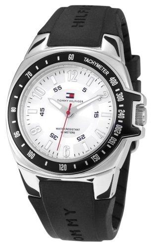 Tommy Hilfiger 1790485 - Reloj de Caballero de Cuarzo, Correa de Caucho Color Negro