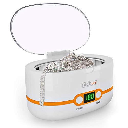 Pulitore ad Ultrasuoni, TACKLIFE MUC02 Lavatrice ad Ultrasuoni Professionale, 600ML, 42000Hz, 35W, per Uso Domestico, per Gioielli, per La Pulizia di Occhiali, Orologi, Utensili ecc