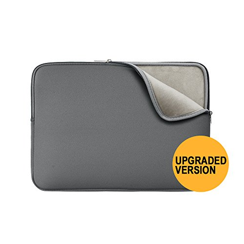 RAINYEAR 11-11.6 Inch Laptop Sleeve Case Soft Lining Carrying Bag Padded Zipper Cover Compatible with 11.6' MacBook Air for 11' Notebook Computer/Ultrabook/Tablet/Chromebook(Grey,Upgraded Version)