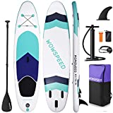 TYCOLIT Paddle Board,Inflatable Stand Up Paddle Board for Adults & Youth,10'5×33'×6' Paddle Board,SUP Paddleboard Accessories Backpack, for Bottom Fin Paddling Surf Control, Non-Slip Deck (City Fleet)