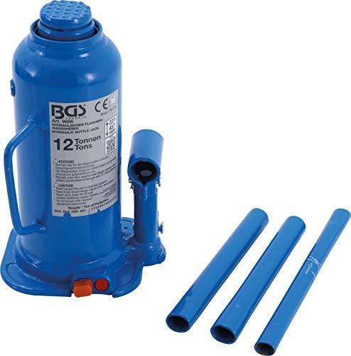 BGS 9886 | Hydraulischer Flaschen-Wagenheber | 12 t | Stempelwagenheber / Kompakt-Wagenheber