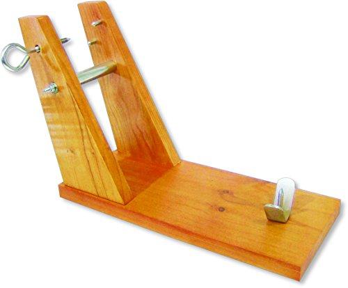 Sonpó Online - Modelo PKSJ2 - Soporte jamonero en madera de pino + Regalo cuchillo jamonero.