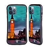 Head Case Designs Torre del Reloj del Big Ben En Londres De Noche Mejor de Lugares Set 2 Carcasa híbrida Compatible con Apple iPhone 12 Pro MAX