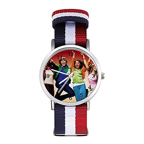 Los relojes musicales de la escuela secundaria son impermeables, versátiles, informales, estudiantes, hombres y mujeres, deportes, moda y temperamento simple anime dibujos animados
