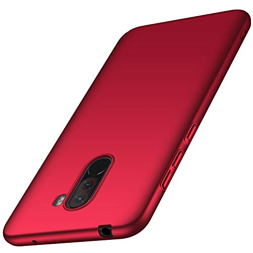 XINKO Xiaomi Pocophone F1 Cover, PC Cover, Anti-scratch, Ultra Lightweight and Thin, Hard Armor, Shock Absorption, para Xiaomi Pocophone F1 (Rot)
