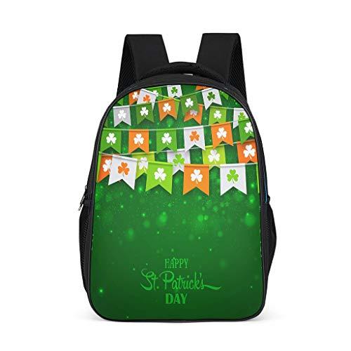O2ECH-8 Rucksack Rot St Patrick's Day Yourturn Rucksack, Jungen Schultasche - Schulrucksack Für Mädchen Rucksack Für Studenten Grey OneSize