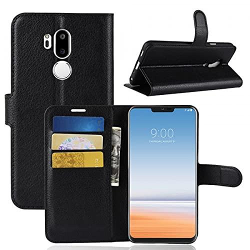 Cover-Discount LG G7 - Funda de Piel con Tarjetero y Compartimento para Fotos, Color Negro