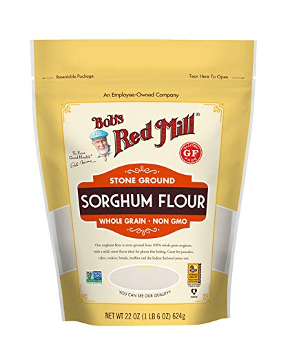 Bob's Red Mill Gluten Free Sweet White Sorghum Flour, 22 Ounce (Pack of 4)