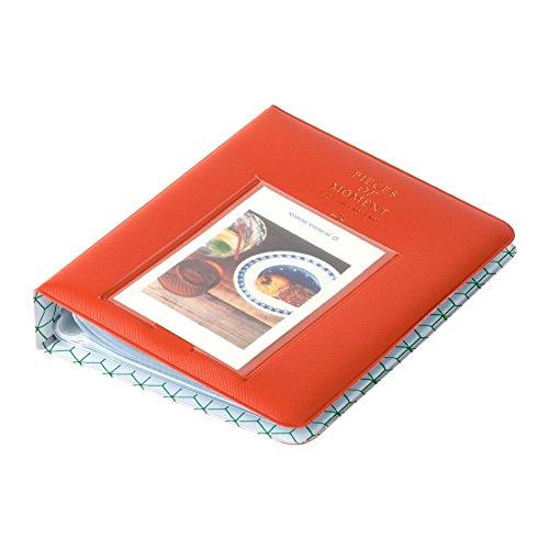Helloween Mini-Fotoalbum für Fujifilm Instax Mini 7s 8 8+ 9 25 26 50s 70 90 Sofortbildkamera und Namenskarte (orange)