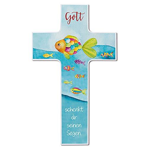 Fritz COX® - Kinderkreuz - 'Gott schenkt Dir seinen Segen' 20cm - Holz-Kreuz für Zuhause mit schönem Kinder-Segen