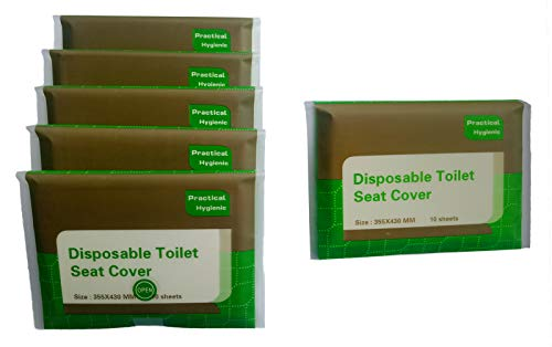 Toilet Seat Covers Disposable Travel portable 5 Packs (50 -...