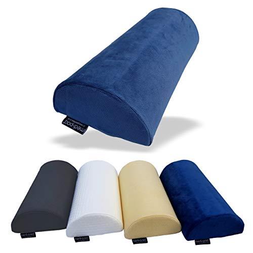 Medipaq - Halbmond Memory Foam Kissen - Kniekissen für Seitenschläfer, Nacken, unteren Rücken, Knie, Beine, Füße – Ergonomisches Kissen für jede Position