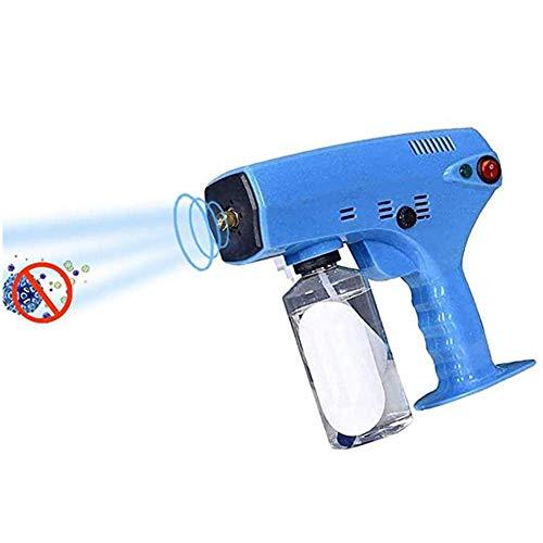 OESFL El pulverizador ULV Nebulizador, Vapor portátil de Mano de desinfección Azul Claro Nano Pistola atomizador pulverizador de la máquina, la máquina Azul nebulización
