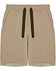 GULLIVER Pantalones Cortos para Teen Niño Color Beige con Cordón, Algodón, Casual Shorts para 9-14 Años