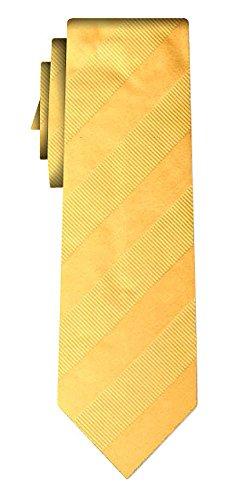 Cravate soie unie stripe III yellow in yellow
