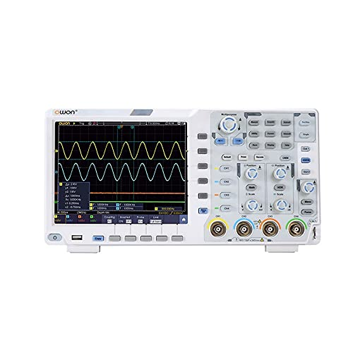 Yuqiyu OWON XDS3064E Osciloscopio Digital 4 Canales 60MHz Ancho de Banda Pantalla táctil bajo Ruido USB osciloscopios 40M Longitud de Registro