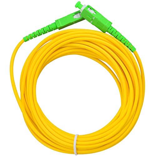 Acobonline Fiber óptica Cable SC/APC a SC/APC monomodo simplex 9/125,Operadores Movistar Jazztel Vodafone Orange Amena Masmovil Yoigo (2 M)