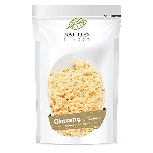 Nature's Finest Sibirisches Bio-Ginseng-Pulver 250 g | Rohes Bio-Supernahrungsmittel | Vegan und vegetarisch