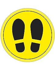 APLI 18597 - Círculo de señalización para suelo PVC amarillo y negro, 30 cm