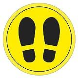 APLI 18597 - Cerchio di segnalazione per pavimento in PVC, colore: giallo e nero, 30 cm...