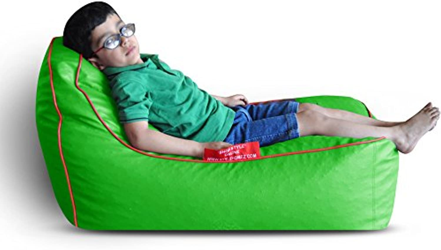 Style Homez Video Rocker for Kids Green   Red Piping Cover Only
