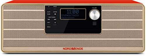 Nordmende Transita 320 Hochwertiges Stereo Micro-System mit CD-Spieler, Bluetooth, DAB+ und UKW-Empfang, rot