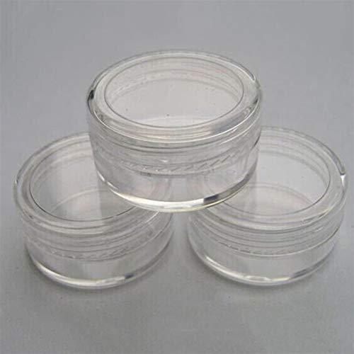 Wihgfcv Botella de envase cosmético 1 unids 5g Mini Pequeño PEQUEÑO Perfume DE PLÁSTICO DE PLÁSTICO Transparente Botellas de pulverización componen el contenedor de la Muestra cosmética