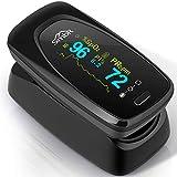 SIMBR Pulsossimetro,Saturimetro da Dito Portatile Professionale con Display LCD...