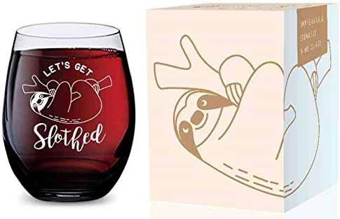 2021 Stemless new arrival Wine lowest Glass (Lets Get Slothed) Made of Unbreakable Tritan Plastic and Dishwasher Safe - 16 ounces outlet online sale