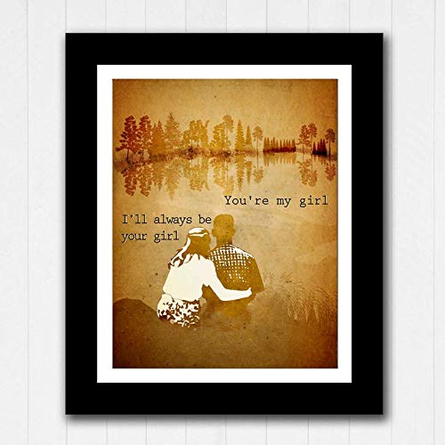 Forrest Gump and Jenny Love Quote Gifts for Lovers Poster Poster Home Art Wall Posters [No Framed]