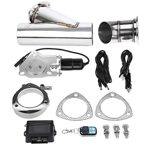Honhill Acero Inoxidable silenciador de Escape eléctrico Kit de Sistema de Interruptor de válvula (3.0' 76mm)