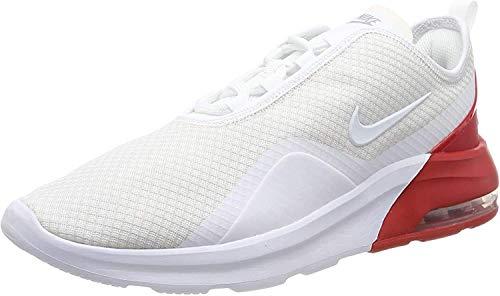 Nike Air MAX Motion 2, Zapatillas de Trail Running para Hombre, Multicolor (White/White/University Red/Platinum Tint 102), 46 EU