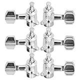 Cabezales de máquina Cabezales de máquina Afinadores estables para amantes de la guitarra para principiantes(Silver)