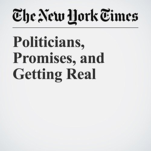 Politicians, Promises, and Getting Real copertina