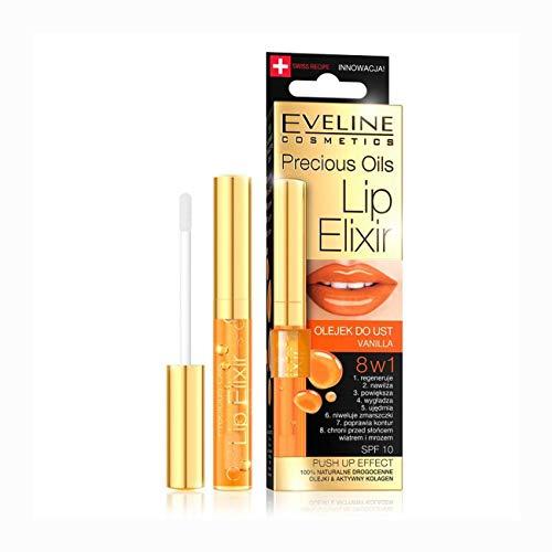 Eveline Cosmetics Lippen Öl & Collagen ELIXIR - Lipgloss PUSH UP- Lip Serum Vanille 7ml