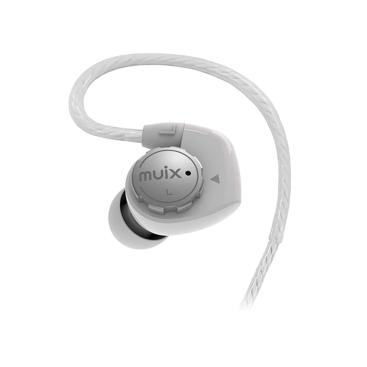 現在りんご郵便【 国内正規品 】 MUIX Hi-Fi デュアルサウンド インイヤー イヤホン IX1000HE ホワイト IX1000HE-WH