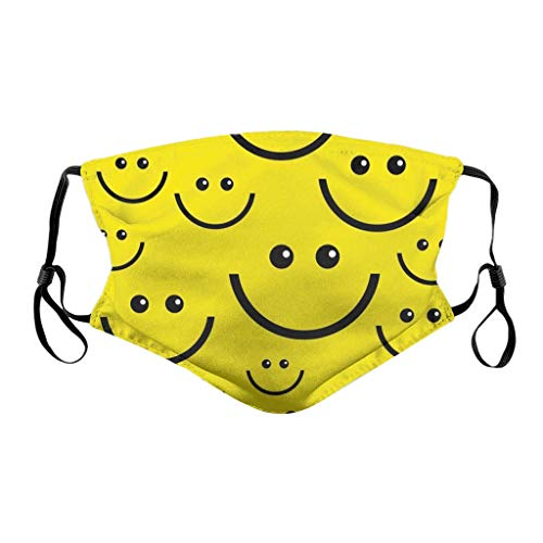 YueLove Face Covering Face Bandanas Unisex Reusable Windproof Anti-Dust Mouth Bandanas Outdoor Camping Motorcycle Running Neck Gaiter With 2 Replacement Sheet For Teen Men Women